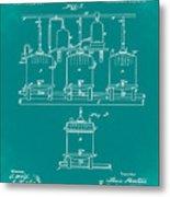Louis Pasteur Brewing Beer And Ale Patent 1873 Green Metal Print