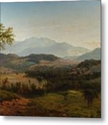 Louis Remy Mignot 1831-1870, Fishkill Mountains Metal Print