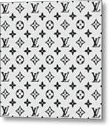 Louis Vuitton Pattern Lv 07 Grey Metal Print