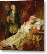 Louis Xv And Madame Dubarry Metal Print