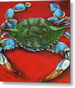 Louisiana Blue On Red Metal Print by Dianne Parks