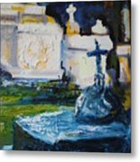 Louisiana Cemetery Metal Print