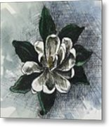 Louisiana Magnolia Metal Print