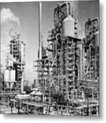 Louisiana: Oil Refinery Metal Print
