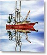 Louisiana Shrimp Boat 4 - Paint Metal Print