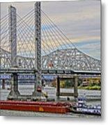 Louisville Bridges Metal Print