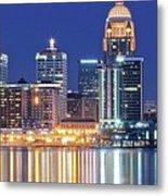 Louisville Kentucky Lights Metal Print