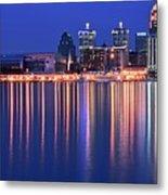 Louisville Lights Up Nicely Metal Print