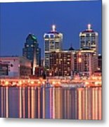 Louisville Panoramic At Blue Hour Metal Print