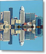 Louisville Skyline Reflection Metal Print