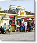 Loulou's On The Commercial Pier In Monterey-california Metal Print