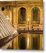 Louvre Courtyard Lamps - Paris Metal Print