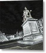 Louvre Museum 7 Art Bw Metal Print