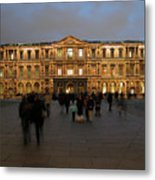 Louvre Palace, Cour Carree Metal Print by Mark Czerniec