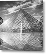Louvre Pyramid, Paris Metal Print