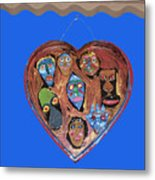 Lovable Funny Faces Metal Print
