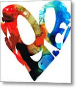 Love 8 - Heart Hearts Romantic Art Metal Print