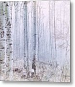 Love Amidst The Aspens Metal Print