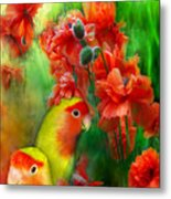 Love Among The Poppies Metal Print