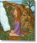 Love And Gratitude Meditation - Illustration #13 In The Infinite Song Metal Print