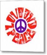 Love And Peace 14 Metal Print