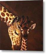 Love And Pride Giraffes Metal Print