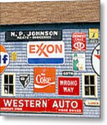Love Barn With Road Signs, Orland, Maine Metal Print
