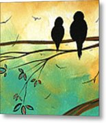 Love Birds By Madart Metal Print by Megan Duncanson