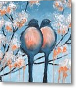 Love Birds Metal Print by Holly Donohoe
