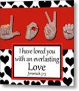 Love - Bw Graphic Metal Print