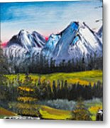 Love Can Move Mountains Metal Print