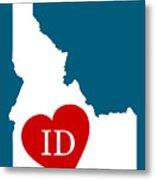 Love Idaho White Metal Print