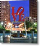 Love In Philly Metal Print