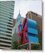 Love In The City - Philadelphia Metal Print