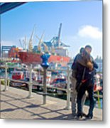 Love In The Port Of Valpaparaiso-chile Metal Print