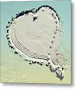 Love In The Sand Metal Print