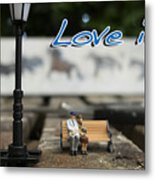 Love Is By Guido Prussia Metal Print