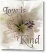 Love Is Kind Metal Print