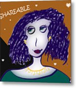 Love Is Shareable Metal Print