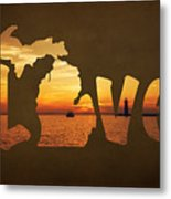 Love Lake Michigan Metal Print
