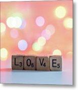 Love Lights Square Metal Print