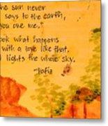 Love Lights the Whole Sky Metal Print