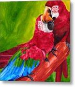 Love Macaws Metal Print