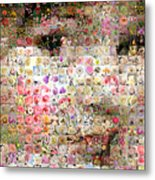 Love Me With Flowers Metal Print