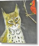 Love My Cats And Cards Metal Print