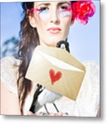 Love Note Delivery From The Heart Metal Print