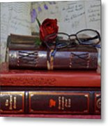 Love Of Books Metal Print