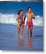 Love On A Beach Metal Print