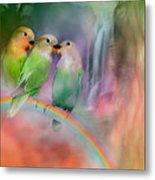 Love On A Rainbow Metal Print by Carol Cavalaris