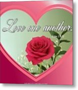 Love One Another Card Metal Print
